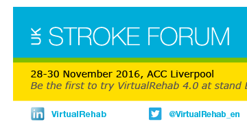 Preview of VirtualRehab 4.0 at the UK Stroke Forum in Liverpool